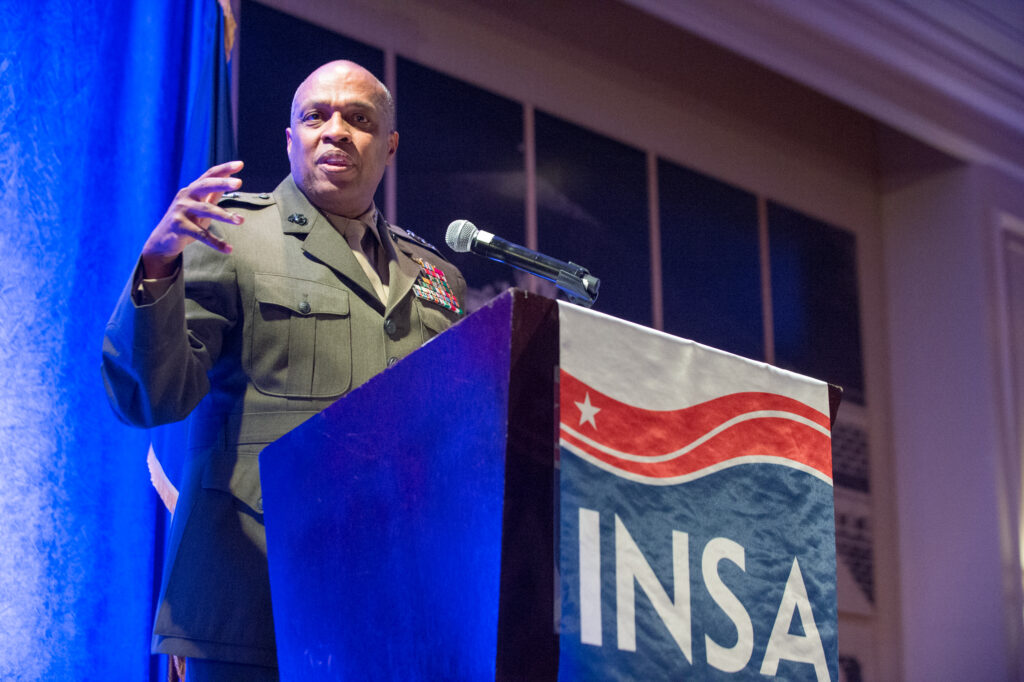 INSA Leadership Dinner with DIA Director Lt. Gen. Vincent R. Stewart, USMC on July 30, 2015.
