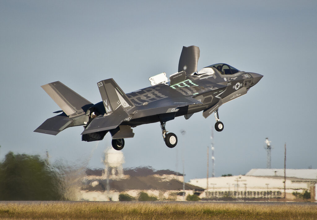 Marines perform first F-35B vertical take-off, landing at Eglin
