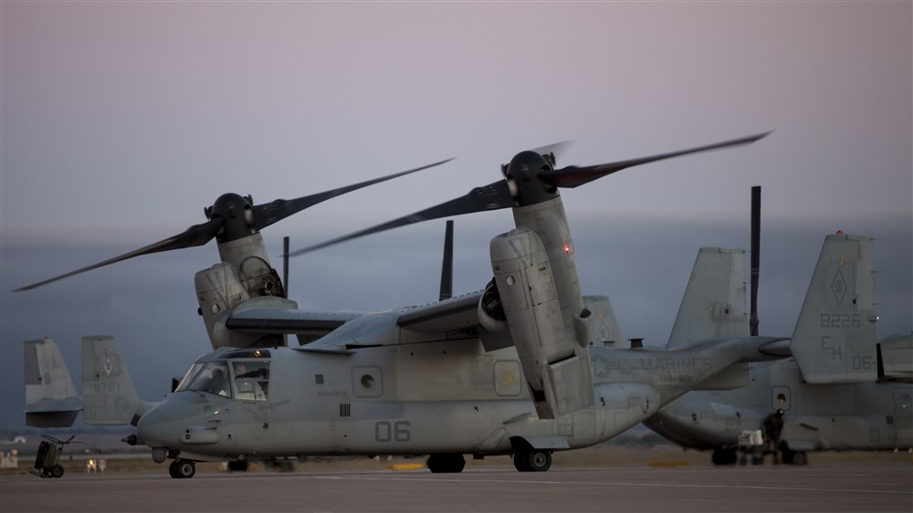 Marine V-22 in Monrovia for Ebola support