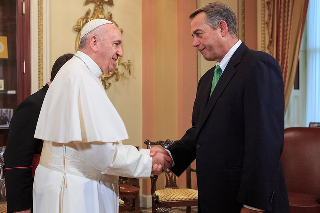 Rep. John Boehner and Pope Francis