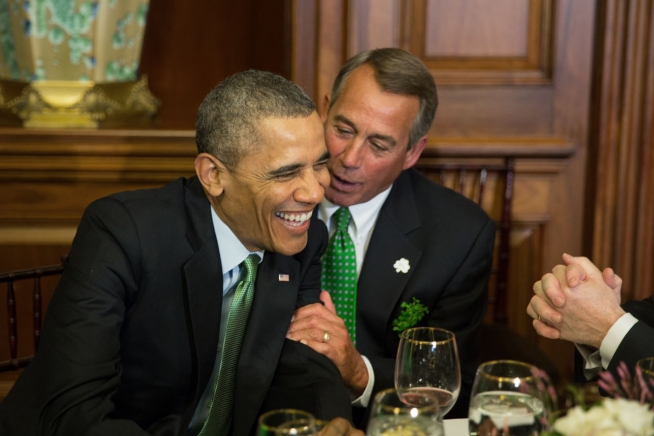 Rep. John Boehner and President Obama