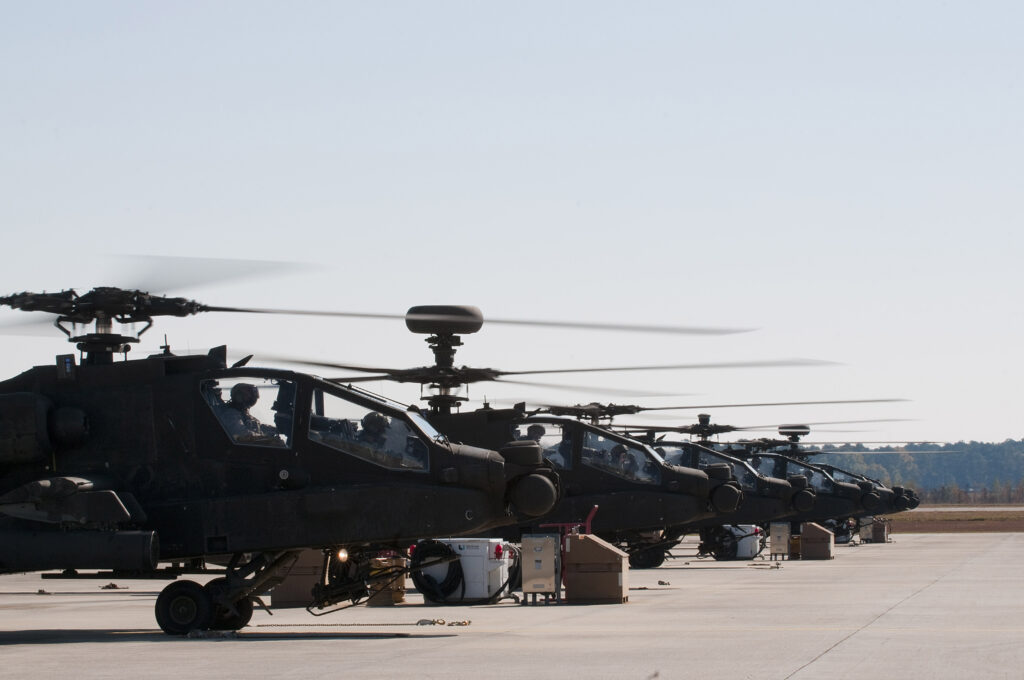 Army National Guard AH-64 Apaches.