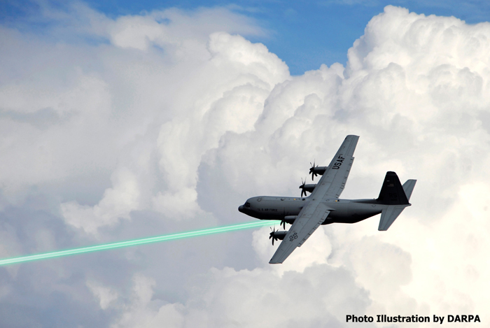 AC-130 laser - illustration by DARPA