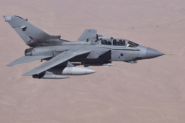 RAF Tornado GR4's over Iraq on an armed reconnaissance mission in support of OP SHADER.  Royal Air Force Tornado GR4 aircraft have been in action over Iraq as part of the international coalition's operations to support the democratic Iraqi Government in the fight against ISIL.