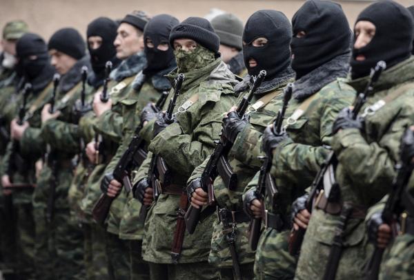 Little Green Men In Ukraine